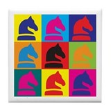 Chess Pop Art Tile Coaster