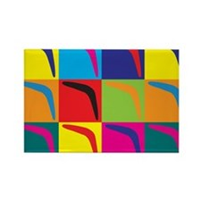 Boomerang Pop Art Rectangle Magnet