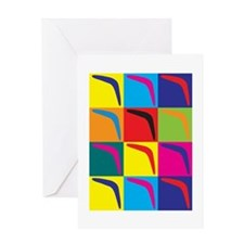 Boomerang Pop Art Greeting Card