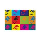 Bobsled Pop Art Rectangle Magnet (100 pack)