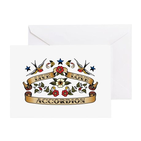 Live Love Accordion Greeting Card