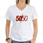 50/50 Women's V-Neck T-Shirt