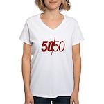 50/50 Women's V-Neck T-Shirt