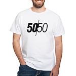 50/50 White T-Shirt