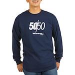50/50 Long Sleeve Dark T-Shirt