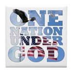 """One Nation Under God"" Tile Coaster"