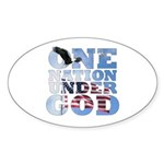 """One Nation Under God"" Oval Sticker"