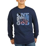 """One Nation Under God"" Long Sleeve Dark T-Shirt"