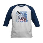 """One Nation Under God"" Kids Baseball Jersey"