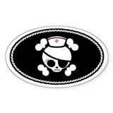 Nurse Molly III Oval Decal