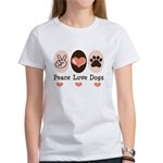 Peace Love Dogs Women's T-Shirt