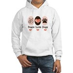 Peace Love Dogs Hooded Sweatshirt