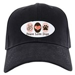Peace Love Dogs Black Cap