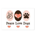 Peace Love Dogs Postcards (Package of 8)