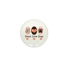 Peace Love Dogs Mini Button (10 pack)