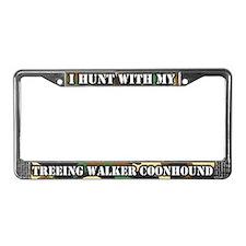 Hunt Treeing Walker Coonhound License Plate Frame