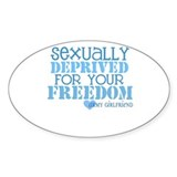 Sexually Deprived - Army GF Oval Decal