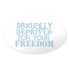 Sexually Deprived - blue Oval Decal