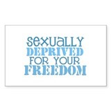 Sexually Deprived - blue Rectangle Decal