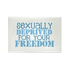 Sexually Deprived - blue Rectangle Magnet