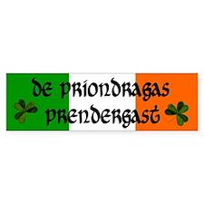 Prendergast in Irish and English Bumper Bumper Sticker