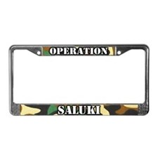 Operation Saluki License Plate Frame