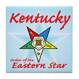Kentucky Eastern Star Tile Coaster