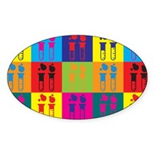 Biochemistry Pop Art Oval Sticker (50 pk)