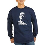 Obama 2008 Stencil-Long Sleeve Dark T-Shirt