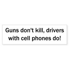 Drivers With Cell Phones Bumper Bumper Sticker