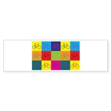 Bicycling Pop Art Bumper Bumper Sticker