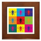 Bees Pop Art Framed Tile