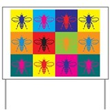 Bees Pop Art Yard Sign