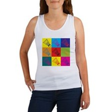 Badminton Pop Art Women's Tank Top