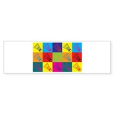 Badminton Pop Art Bumper Bumper Sticker