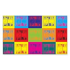 Backgammon Pop Art Rectangle Sticker 50 pk)