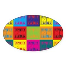 Backgammon Pop Art Oval Decal