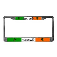 McQuaid in Irish & English License Plate Frame