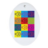 Audiology Pop Art Oval Ornament