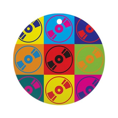 Audio and Video Pop Art Ornament (Round)