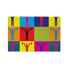 Athletic Training Pop Art Rectangle Magnet (100 pa