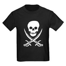 Skull & Swords (White) T