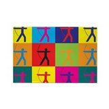 Archery Pop Art Rectangle Magnet