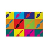 Archaeology Pop Art Rectangle Magnet