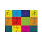 Anthropology Pop Art Rectangle Magnet