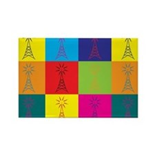 Amateur Radio Pop Art Rectangle Magnet