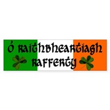 Rafferty in Irish & English Bumper Bumper Sticker
