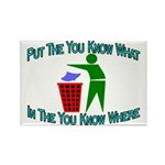 You Know Where Rectangle Magnet (100 pack)