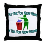 You Know Where Throw Pillow