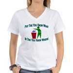 You Know Where Women's V-Neck T-Shirt